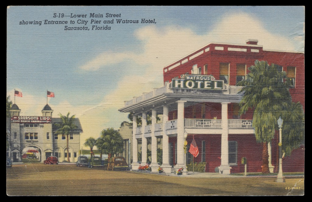 Fig. 1 Postcard depicting the Watrous Hotel.