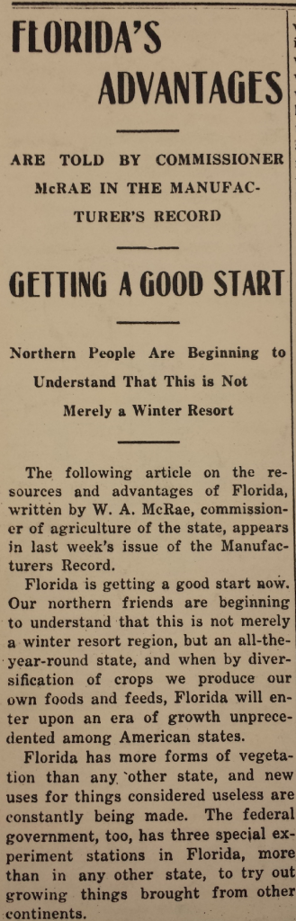 Fig. 5 Sarasota-Times, June 22, 1916.