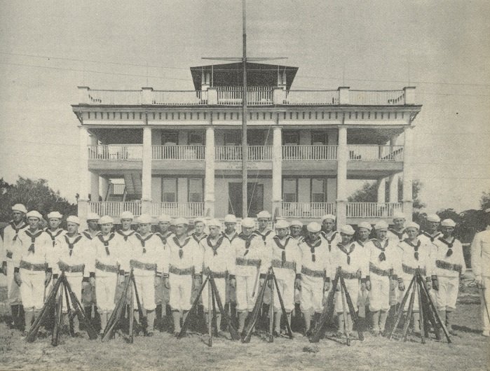 Fig. 2 Sarasota Naval Militia in white uniform.
