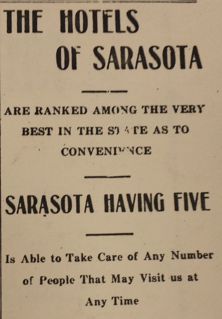 Fig. 2 Sarasota-Times, May 18, 1916.