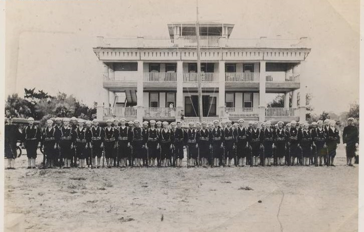 Fig. 1 Sarasota Naval Militia in black uniform, 1917.