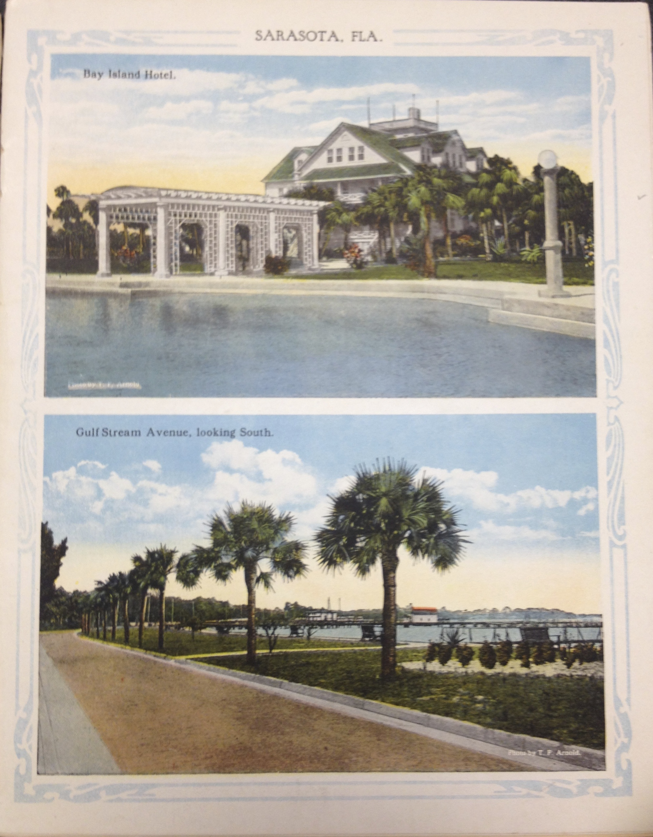 Souvenir of Sarasota, Florida Brochure